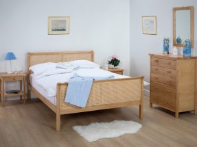 Bampton Caned Bedstead with Footboard