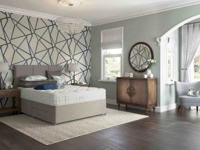 Relyon Heritage Seaton Bed and Contemporary Headboard